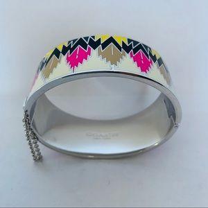 Coach Jewelry - COACH Enamel Hawk Feather Hinged Bracelet